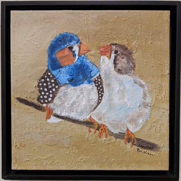 Roz Nixon - original artwork - nature - birds - Say What