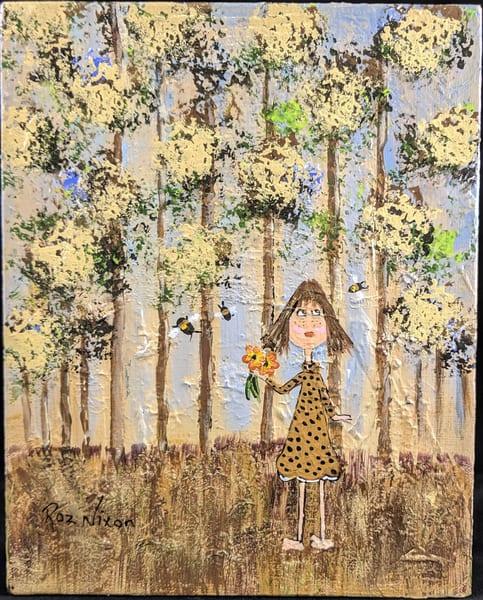 Roz Nixon - original artwork - nature - child - little girl - Sissy