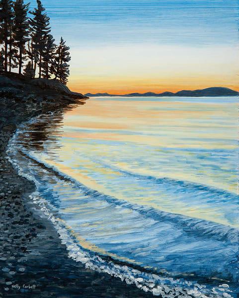 Nanoose Bay sunset painting