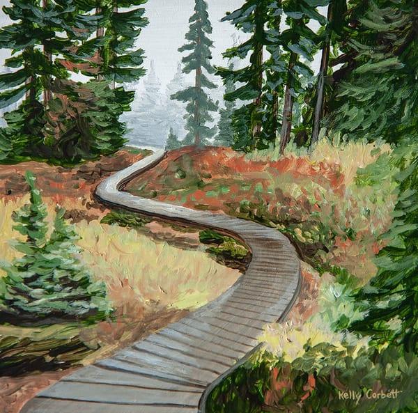 Alpine trail in Paradise Meadows on Mnt Washington