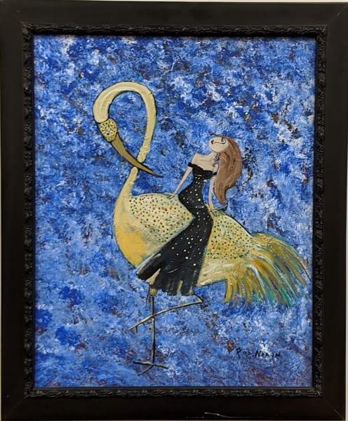 Roz Nixon - original artwork - figure - woman - bird - Stardust