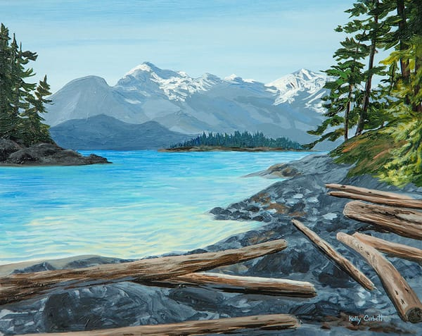 West Coast painting inspired by Nanoose Bay, BC