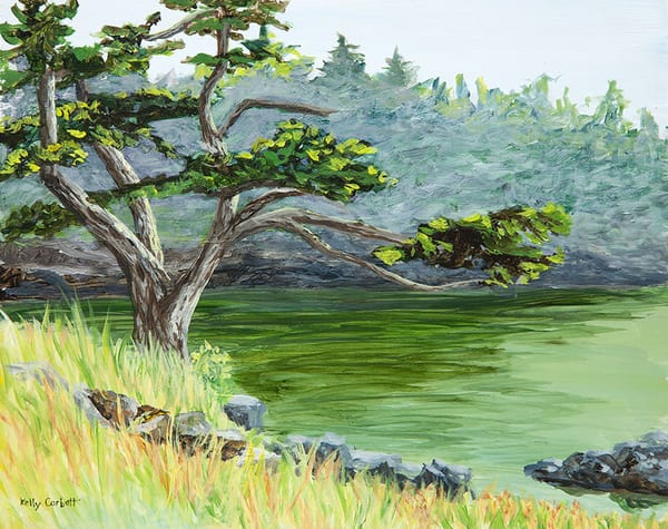 Plein Air painting in Moorecroft Park in Nanoose Bay, BC