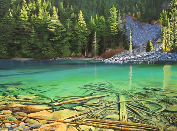 Lindeman Lake painting in Chilliwack, BC