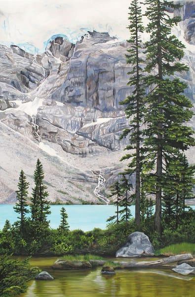 Alpine mountain and Joffre Lake