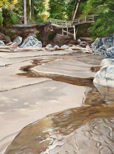 Painting of Tonquin Beach in Tofino, BC.