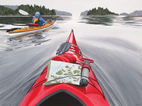 Odyssey, west coast limited edition kayak print