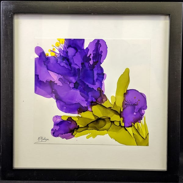 Kay Ridge - original artwork - nature - flowers - Purple Passion