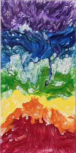 Kay Ridge - original artwork - abstract - spiritual - Swirling Chakras
