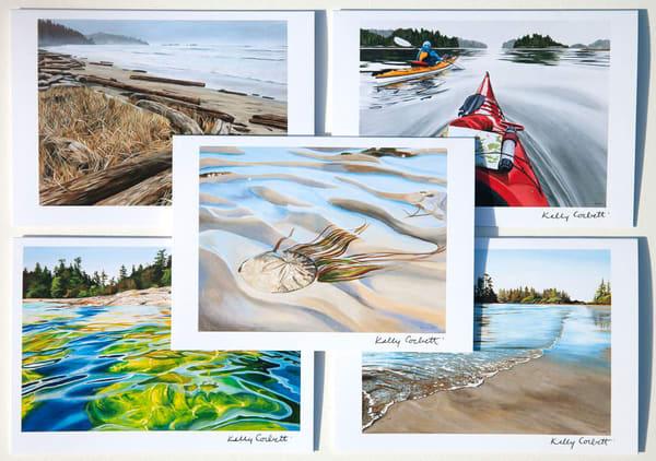 Pack of five west coast landscape art cards