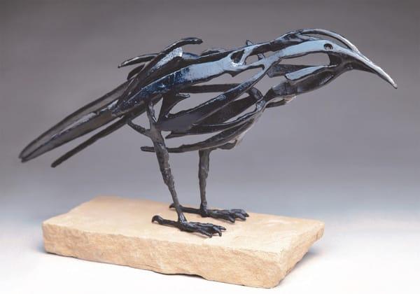 Raven Sculpture   Southwest Art Gallery Tucson   Al Glann