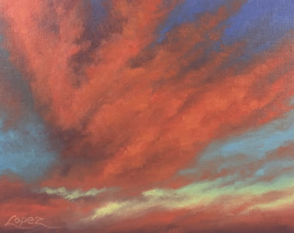 Valley Sunset Art | Gema Lopez Fine Arts