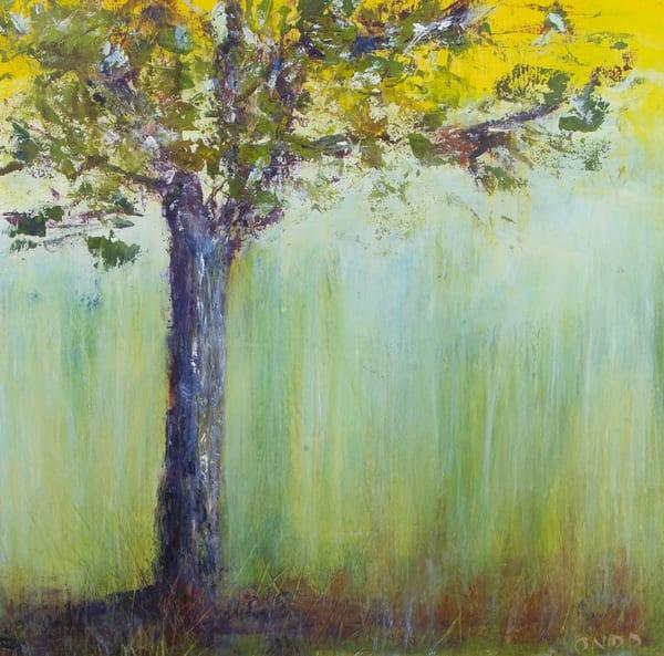original purple trees oil painting