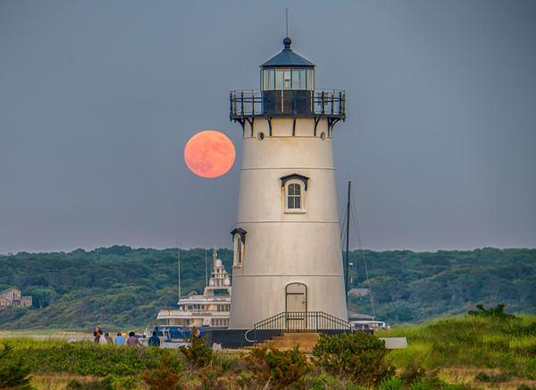 Edgartown Light Summer Moon Art | Michael Blanchard Inspirational Photography - Crossroads Gallery