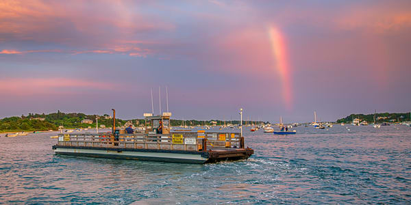 Chappy Ferry Rainbow Photography Art | Michael Blanchard Inspirational Photography - Crossroads Gallery