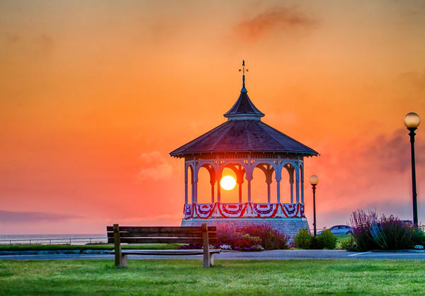 Bandstand Summer Sunrise Photography Art | Michael Blanchard Inspirational Photography - Crossroads Gallery