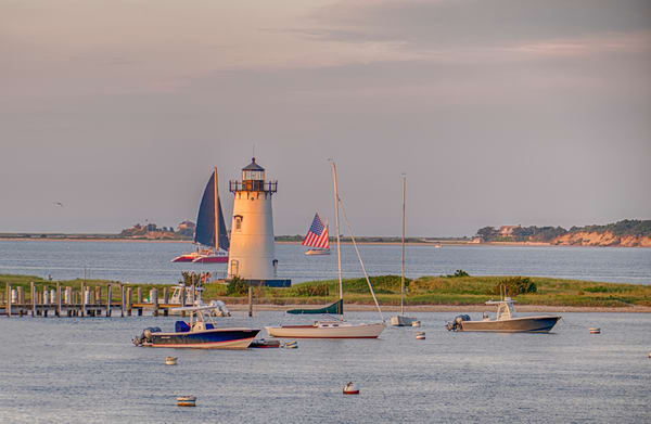 Edgartown Light Summer Sailboats Art | Michael Blanchard Inspirational Photography - Crossroads Gallery
