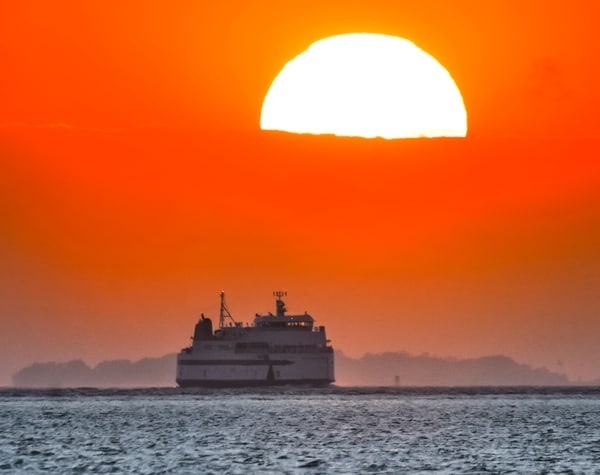 Steamship Ferry Sunset Sail Photography Art | Michael Blanchard Inspirational Photography - Crossroads Gallery