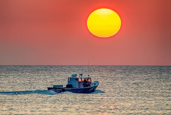 Oak Bluffs Summer Lobster Boat Sunrise Photography Art | Michael Blanchard Inspirational Photography - Crossroads Gallery