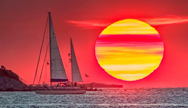 West Chop Super Sun Art | Michael Blanchard Inspirational Photography - Crossroads Gallery