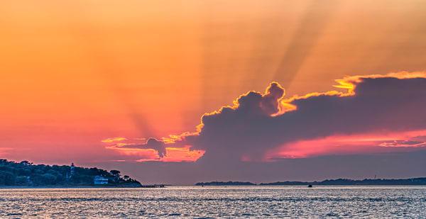 West Chop Light Sun Beams #2 Photography Art | Michael Blanchard Inspirational Photography - Crossroads Gallery