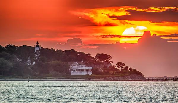 West Chop Light Sunset Sun Photography Art | Michael Blanchard Inspirational Photography - Crossroads Gallery