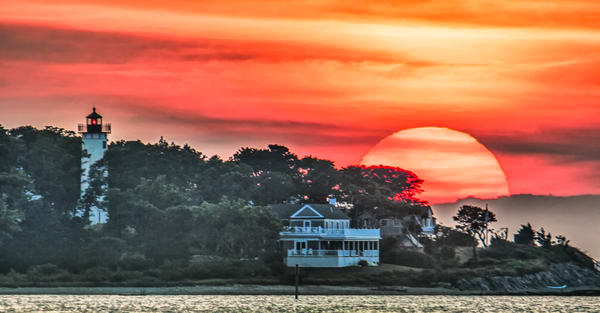 West Chop Light Sun Art | Michael Blanchard Inspirational Photography - Crossroads Gallery
