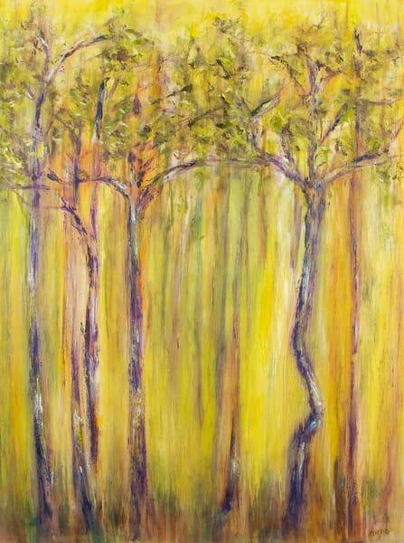 purple trees original oil painting