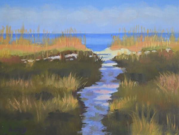 Island Path   Original Oil  Art   Sharon Guy