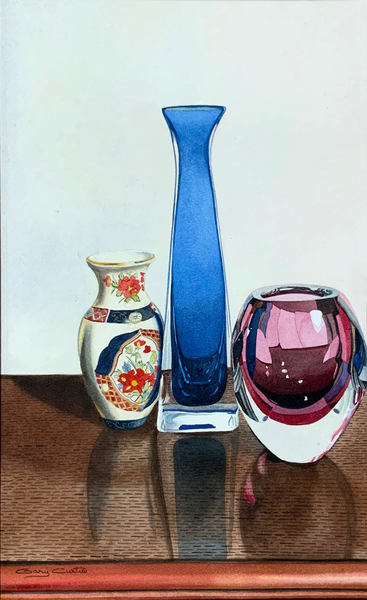 Thre3 Vases Art | Gary Curtis Watercolors