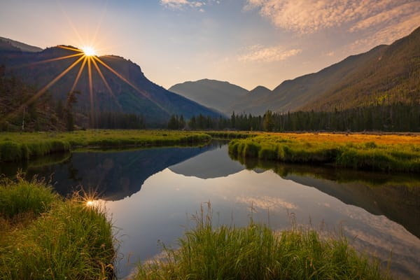 Colorado Sunrise Photo of East Inlet Meadow on west side Rocky Mountain National Park