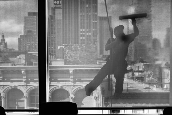 Window Washer, Woolworth Building Photography Art | Ed Lefkowicz Photography
