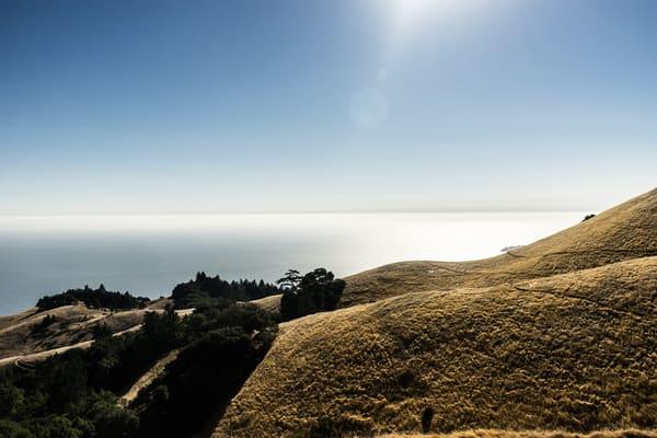 Sunny Repose - late afternoon sun on Mt. Tamalpais in Marin County, California photograph print