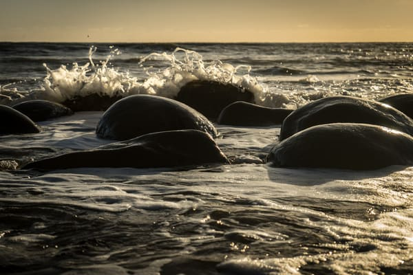 Bowling Ball Beach - Sunset on the ocean in Northern California photograph print