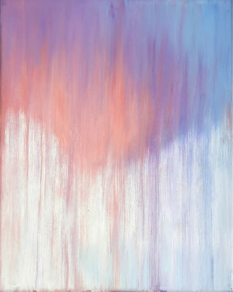 [Sold] Day 30 Wintry Sunset Rain Art | Rachel Brask Studio, LLC