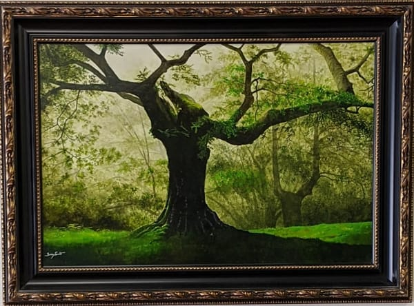 Berry Smith - original artwork - nature - tree - oak - watercolor - The Old Oak