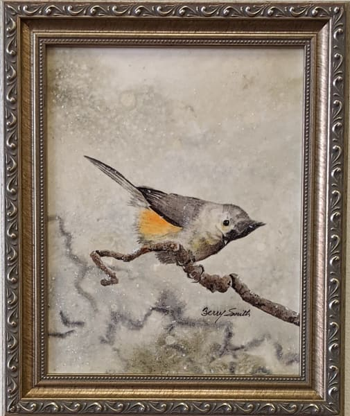 Berry Smith - original artwork - animals - birds - watercolor - Titmouse