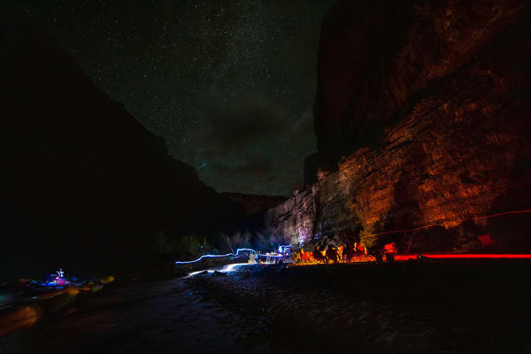 Camping at the bottom of the Grand Canyon on the Colorado River