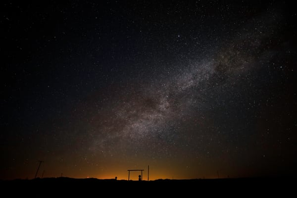 West Texas at night under the Milky Way