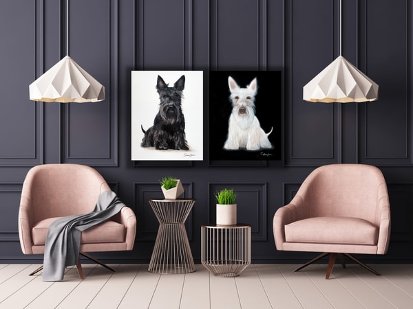 Scottie Pair Deal - 2 Original Oil Paintings