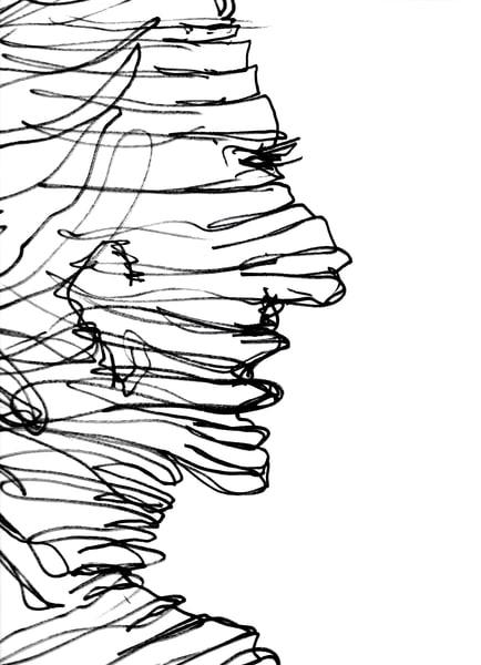 one line profile sketch