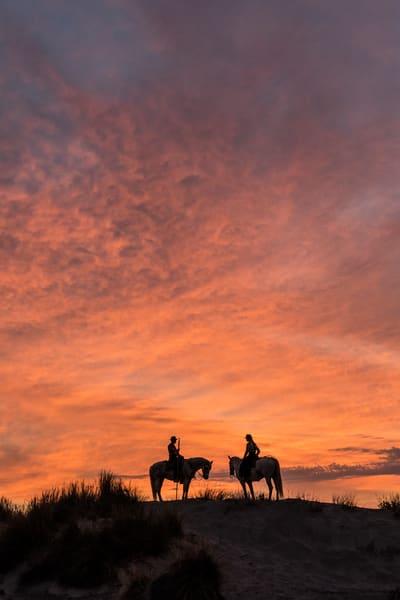 Riders in Fiery Sky