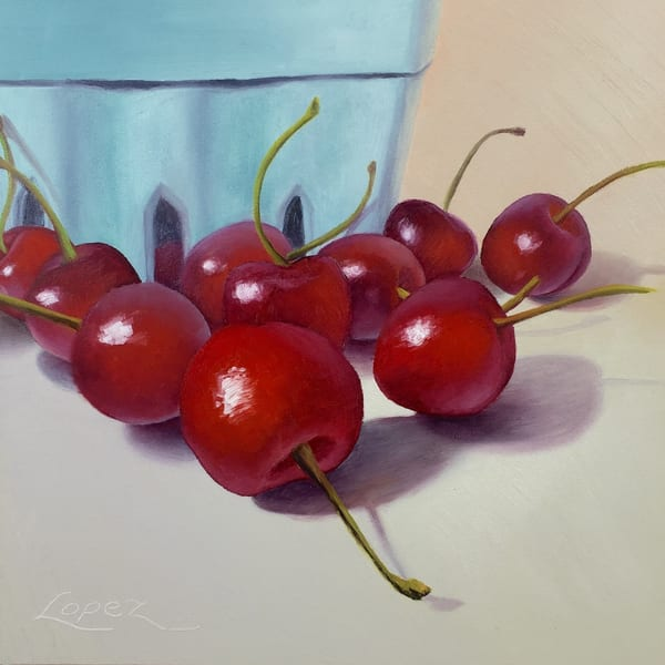 Cherry Season Art | Gema Lopez Fine Arts