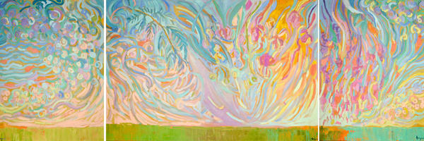 Oversize Earth Sky Painting by Dorothy Fagan