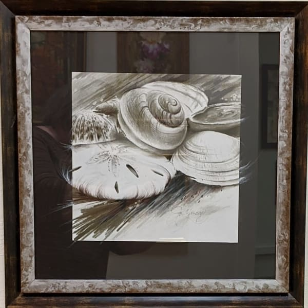 Jo Yancey - original artwork - nature - shells - St. Simon's Shells #2