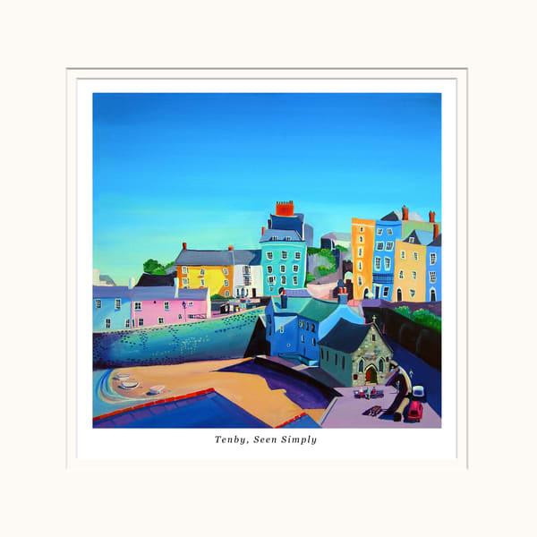 Colourful Tenby Smalll Art Print
