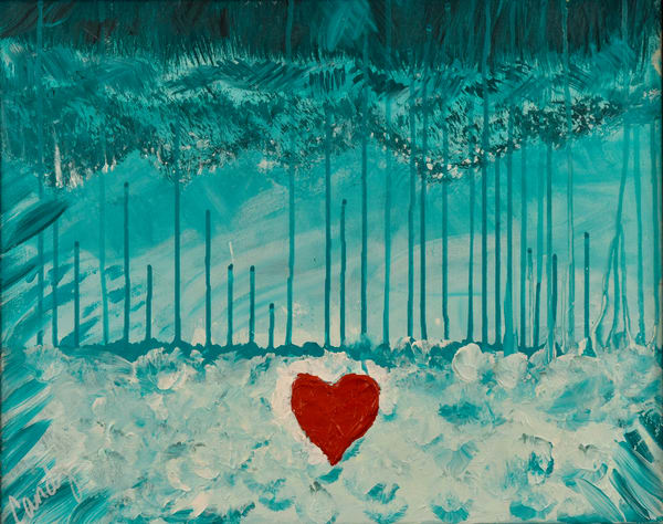 Floating Heart Art | Candy Country