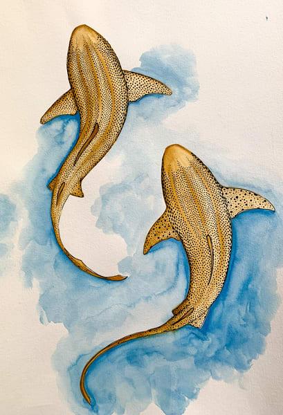 Ocean Zebra Sharks Print