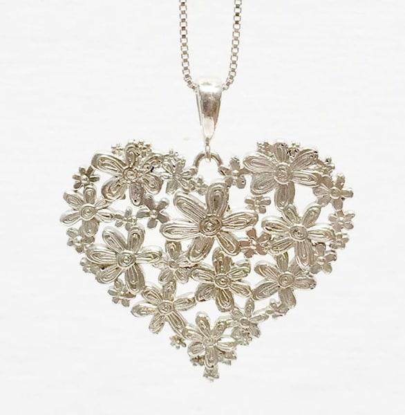 Twitterpated In Silver Fine Jewelry  | Heartworks Studio Inc
