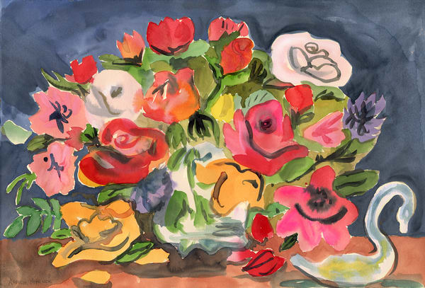 Gladys' Flowers Watercolor Giclee Print